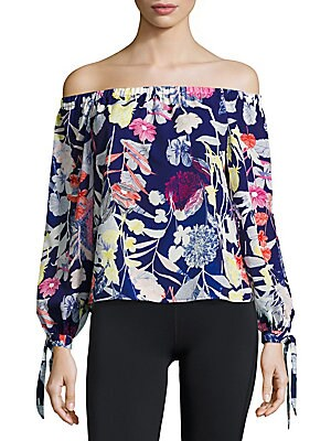 Aloha Printed Off-The-Shoulder Top