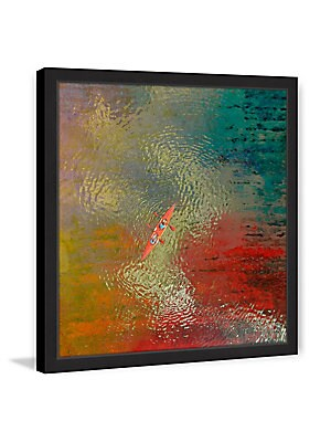 Red Kayak Framed Print