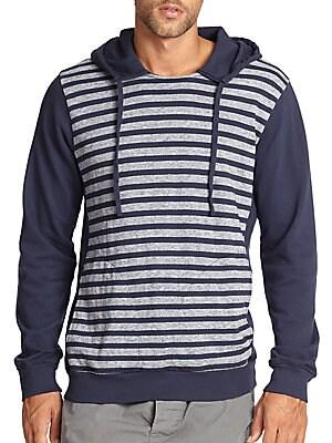 Striped Drawstring Hoodie