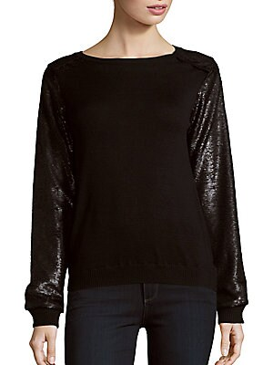 Sequined Bateauneck Top