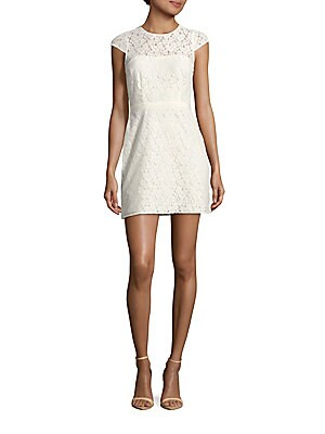 Normandie Cotton-Blend Lace Dress
