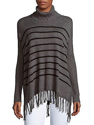 Striped Fringe Hem Sweater