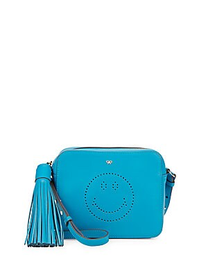 Smiley Leather Crossbody Pouch