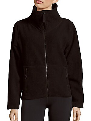 Faux Shearling Polar Fleece Zip Jacket