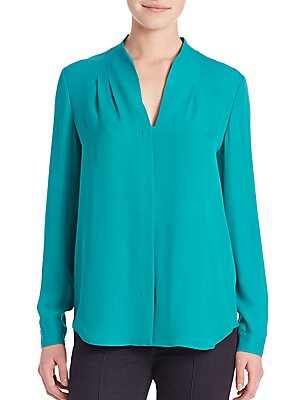 Bea Long Sleeve Silk Blouse