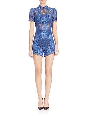 Heidi Short Sleeve Lace Jumpsuit
