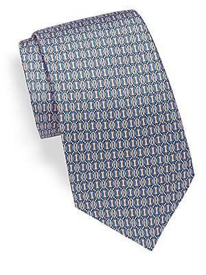 Tonal Printed Silk Tie
