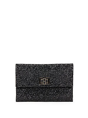 Valorie Sparkling Leather Clutch