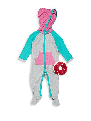 Click here for Baby's Two-Piece Hooded Footie & Rattle Set prices