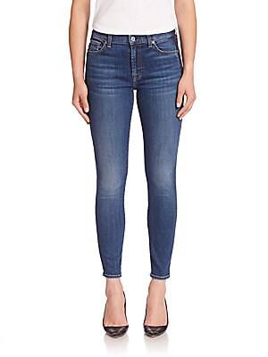 Ankle Skinny Jeans With Shadow Tux Stripe