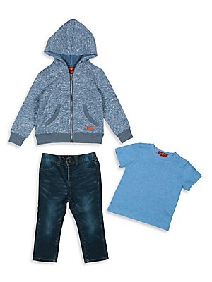 Baby's & Toddler Boy's Three-Piece Hoodie, Tee & Straight-Leg Jeans Set