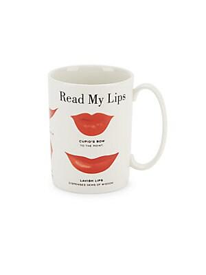 Read My Lips Porcelain Mug