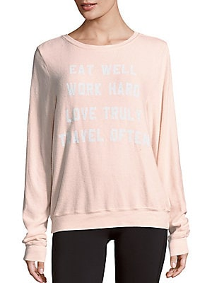 Mantra Graphic Text Sweater