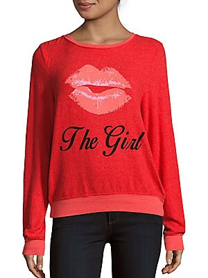 Kiss the Girl Graphic Sweatshirt