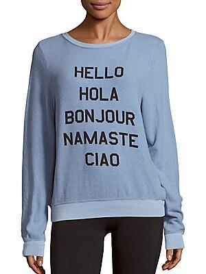 Hello World Graphic Sweater