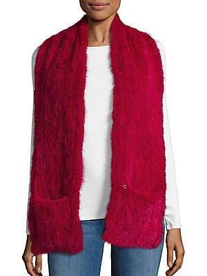 2-Pocket Fur Tail Scarf