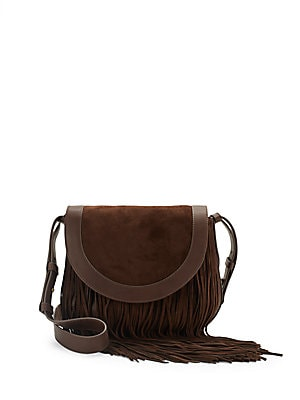 Ray Fringe Saddle Handbag