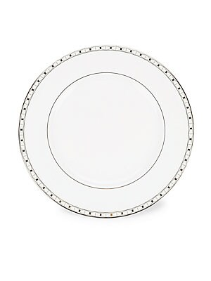 Platinum-Trimmed Bone China Dinner Plate