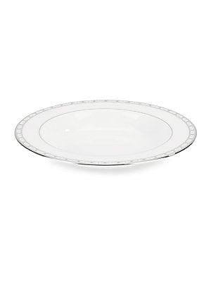 Platinum-Trimmed Bone China Plate