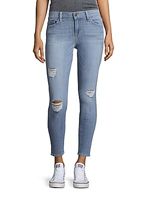 Audrey Crystal Distressed Jeans