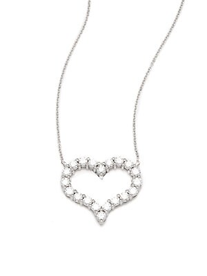 Click here for Diamond & 18K White Gold Love Pendant Necklace prices