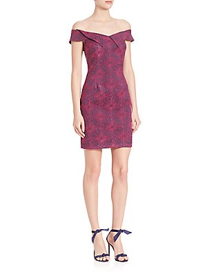 Medallion Jacquard Mini Dress