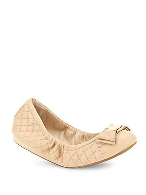 Tali Bow Quilted Leather Ballet Flats