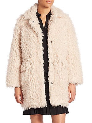Long Sleeve Faux Shearling Jacket