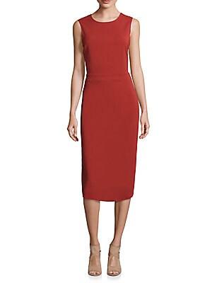 Jocelyn Cutout Silk Blend Sheath Dress