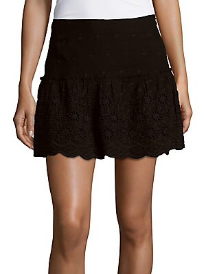 Luciana Embroidered Lace Skirt