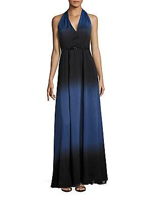 Belted Halterneck Gown