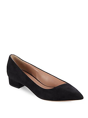 Suede Point Toe Ballet Flats