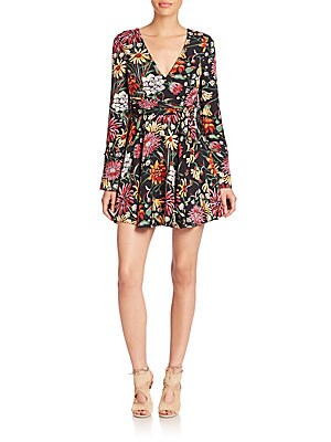 Bianca Silk Floral-Print Wrap Dress