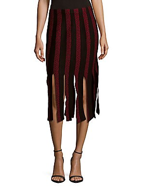 Jude Carwash Fringe Paneled Skirt