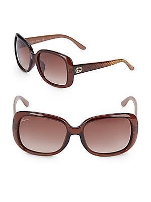 gucci female 211468 oversized rectangular sunglasses