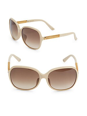 gucci female 186518 55mm rounded sunglasses