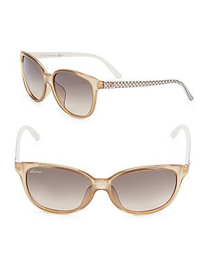 gucci female 186518 57mm wayfarer sunglasses