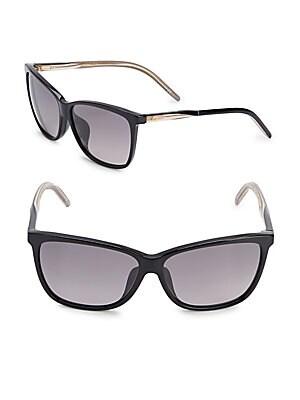 gucci female 55mm wayfarer sunglasses