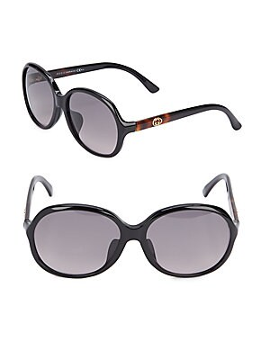 gucci female 188971 59mm rounded sunglasses