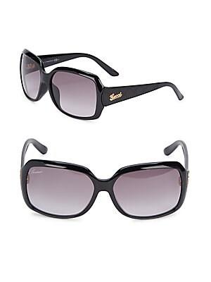 Gradient Lens Oversized Sunglasses