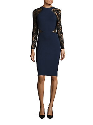 Viven Lace-Trimmed Bodycon Dress