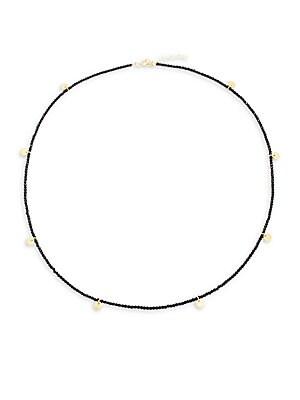 Aztec Disc Beaded Necklace