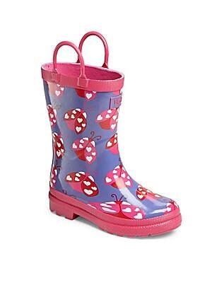 Girl's Ladybug Rainboots