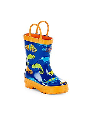 Boy's Crazy Chameleon Rain Boots