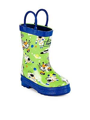 Boy's Astronaut Print Rain Boots