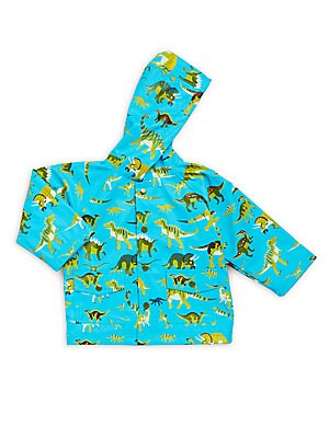 Baby's Wild Dinosaur Print Raincoat