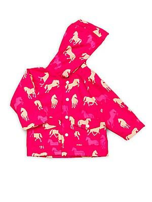 Baby's Horse Print Raincoat