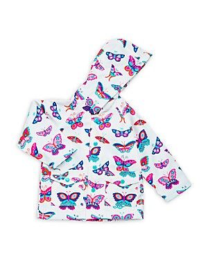 Baby's Butterfly Print Raincoat