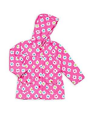 Little Girl's & Girl's Flower Heart Raincoat