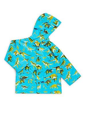 Little Boy's & Boy's Wild Dinos Raincoat